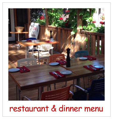 Restaurant & Dinner Menu